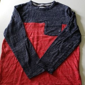 Boys' Two-tone, 3/4 Sleeve Sweater Tee